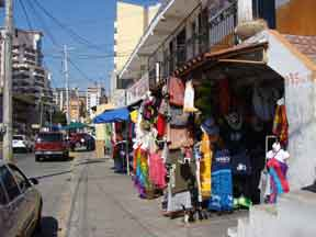 Souvenir Shops on Avenida del Mar in Mazatlan, MX