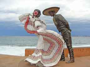 Statue of Dancing Couple in Puerto Vallarta - on the Malecon